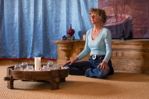 zittend mediteren